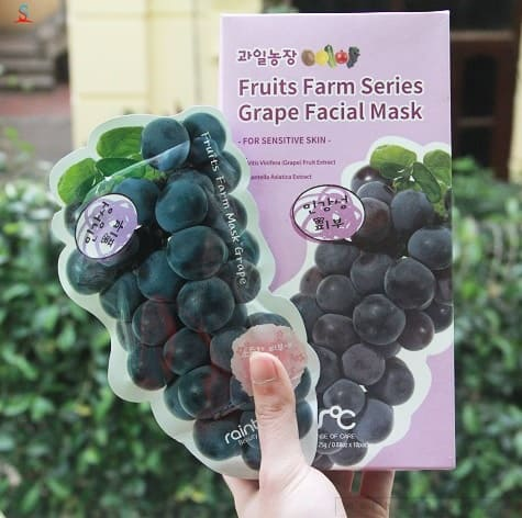 1142 mat na hoa qua rainbow fruit farm mask pack 10 mieng 6